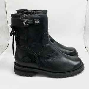 "Harley Davidson ""Radiate"" Black Leather Boots"